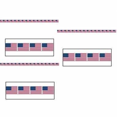 3x amerikaanse vlag markeerlint 6 meter kopen