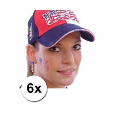 6 amerikaanse vlag tattoo stickers kopen