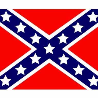 Amerikaanse 10x vlag usa/amerika rebel stickers 10 cm kopen