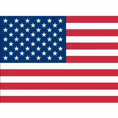 Amerikaanse 10x vlag usa/amerika stickers 10 cm kopen