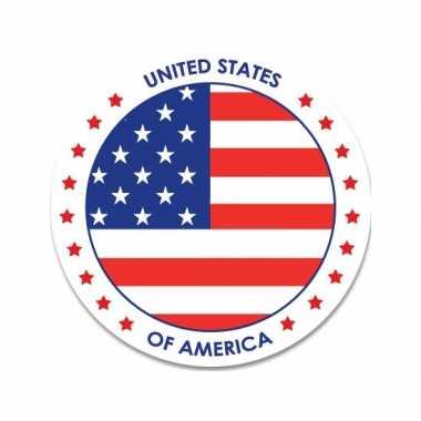 Amerikaanse 20x vs/usa sticker rond 14,8 cm landen decoratie kopen