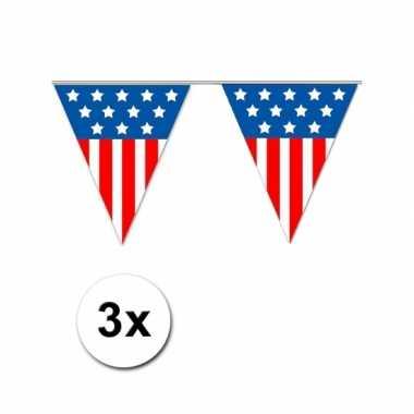 Amerikaanse  3x Vlaggenlijn USA 5 meter kopen