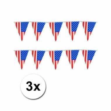 Amerikaanse  3x Vlaggenlijn USA kopen
