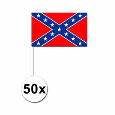 Amerikaanse  50 Geconfedereerde Staten van Amerika zwaaivlaggetjes 12