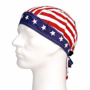 Amerikaanse  Bandana Amerika Star and Stripes kopen