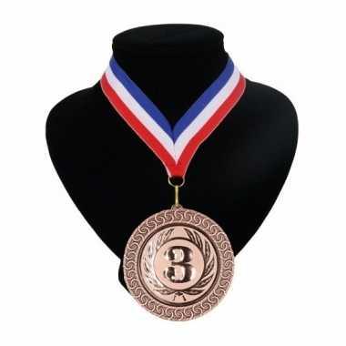 Amerikaanse kampioensmedaille nr. 3 aan rood wit blauw lint kopen