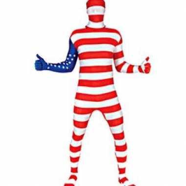 Amerikaanse originele morphsuit usa vlag kopen
