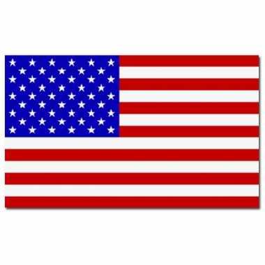 Amerikaanse set van 2x stuks vlaggen amerika / usa 90 x 150 cm kopen