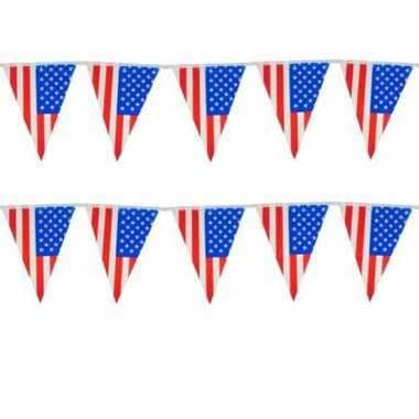 Amerikaanse set van 4x stuks vlaggenlijn usa/amerika 10 meter kopen