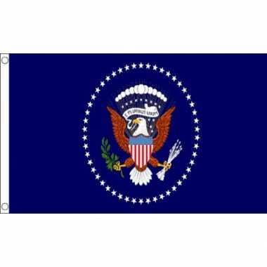 Amerikaanse  USA president vlag 150 x 90 cm kopen