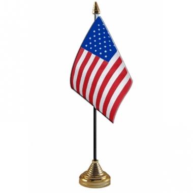 Amerikaanse usa tafelvlaggetje inclusief standaard kopen