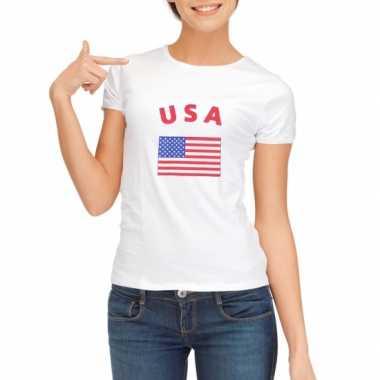 Amerikaanse  Wit dames t-shirt USA kopen