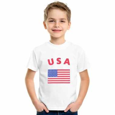 Amerikaanse  Wit kinder t-shirt USA kopen