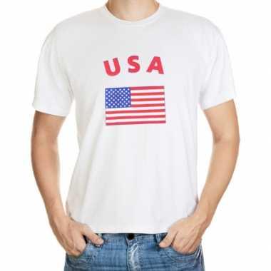 Amerikaanse  Wit t-shirt Amerika heren kopen