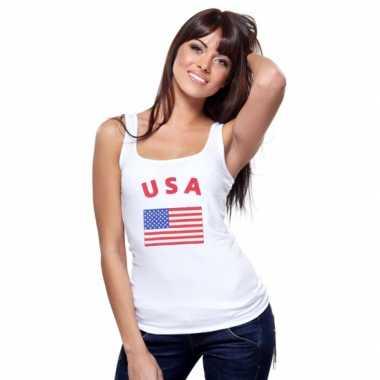 Amerikaanse witte dames tanktop usa kopen