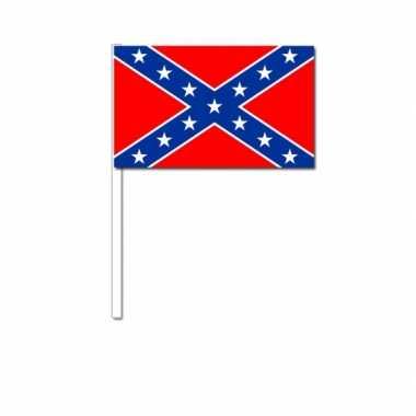 Amerikaanse  Zwaaivlaggetjes Geconfedereerde Staten van Amerika 12 x