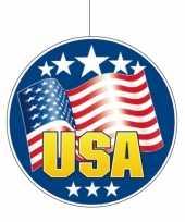 2x stuks usa amerikaanse vlag hangdecoratie 28 cm van karton kopen