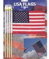 8x amerikaanse usa zwaaivlaggetjes handvlaggetjes kopen