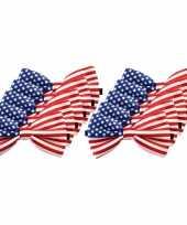 Amerikaanse 10x amerika verkleed vlinderstrikjes 12 cm voor dames heren kopen