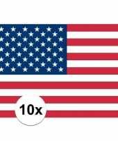 Amerikaanse 10x vlag usa stickers kopen