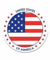 Amerikaanse 10x vs usa sticker rond 14 8 cm landen decoratie kopen