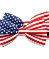 Amerikaanse 2x amerika verkleed vlinderstrikjes 12 cm voor dames heren kopen
