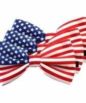 Amerikaanse 3x amerika verkleed vlinderstrikjes 12 cm voor dames heren kopen