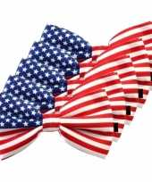 Amerikaanse 5x amerika verkleed vlinderstrikjes 12 cm voor dames heren kopen