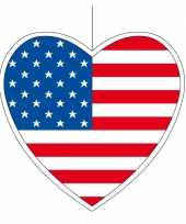 Amerikaanse decoratie hart amerika 14 cm kopen