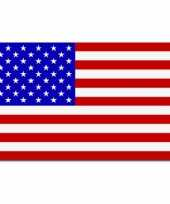 Amerikaanse set van 2x stuks vlaggen amerika usa 90 x 150 cm kopen