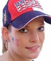 Amerikaanse set van 4x stuks landen vlag tattoo amerika 2 6 x 4 5 cm kopen
