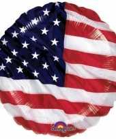 Amerikaanse vlag folie ballon kopen